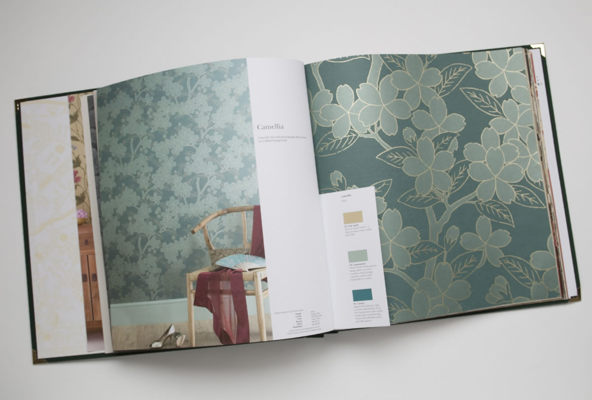 Little Greene Wallpaper Book (open)